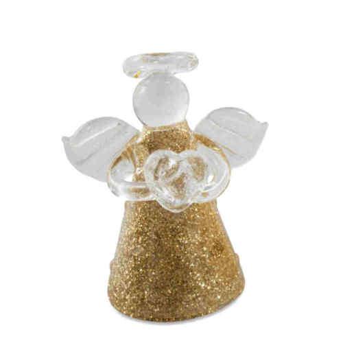 Christbaumschmuck Glasengel goldfarben 2 x 3er Set 4,5cm Weihnachtsengel Engel
