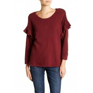 8dbba625a3 Current Elliott Womens Sweatshirt Size 2 M L The Ruffle Sweatshirt ...