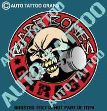BARE BONES Hot Rod Decal Sticker for Mancave Car Bar Garage Vintage Car Stickers