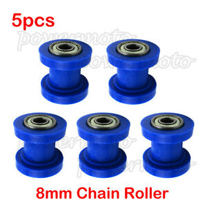 5x 8mm Chain Guide Roller Tensioner For 50 70 90 110 125 250cc ATV Dirt Pit Bike