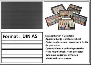 1000-Din-A5-look-Cartes-de-Rangement-Enfichable-Terminaux-034-S-034-5-Rayures-Film