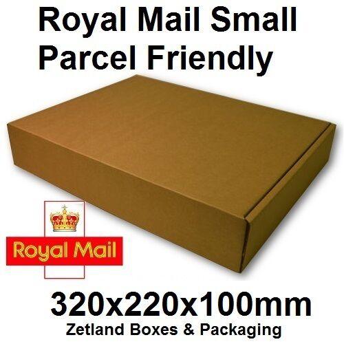 x25 Cardboard Small Parcel Postage Boxes 320x220x100mm High Quality Die Cut Box