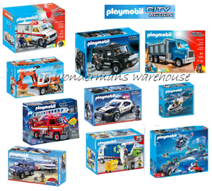 Playmobil City Action Set - Police/Ambulan<wbr/>ce/Speedboat/T<wbr/>ruck/Jeep/Car - New