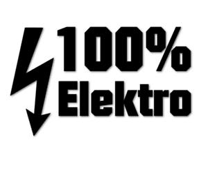 100 Elektro Aufkleber E Auto Tesla Energiewende Strom Car