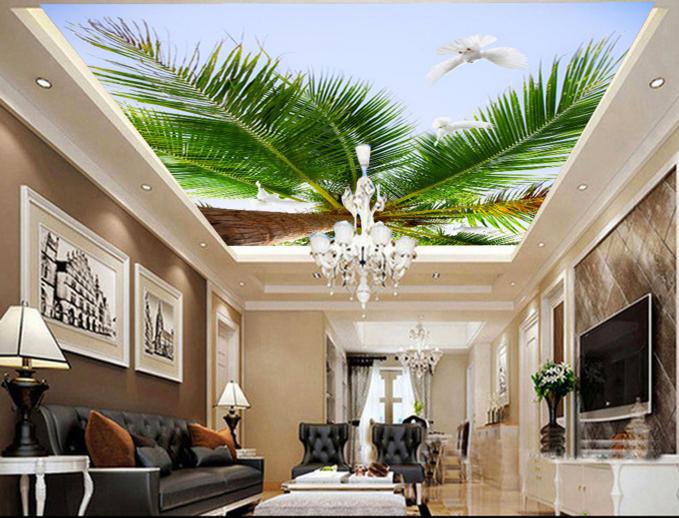 3D Tropical Tree 809 Ceiling WallPaper Murals Wall Print Print Print Decal Deco AJ WALLPAPER 64643b