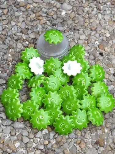 enfant bébé couture Lot de 8 boutons soleil vert 14 mm tricot scrapbooking