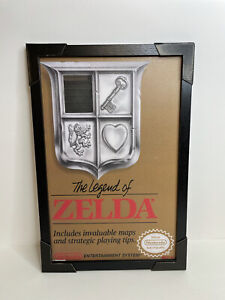 """Nintendo Zelda NES Cover Video Game Room Art Print Frame 13""""X19""""  Framed Poster"""