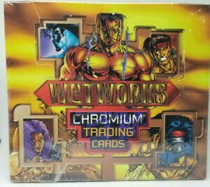 1995-WIDSTORM-WETWORKS-CHROMIUM-TRADING-CARDS-36-PACK-SEALED-BOX-WOW