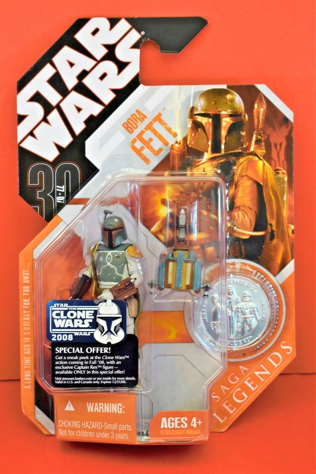 NEW STAR WARS BOBA FETT  ROTJ  30TH ANNIVERSARY SAGA LEGENDS HASBRO 2007 FIGURE