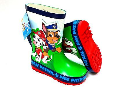 BOYS NEW PAW PATROL RUBBER WELLIES SPRINT WELLY WELLINGTON BOOTS SIZE 4 - 10