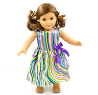"2015 For American Girl Hot Handmade  Princess  Colorful  dress 18""Doll Clothes"