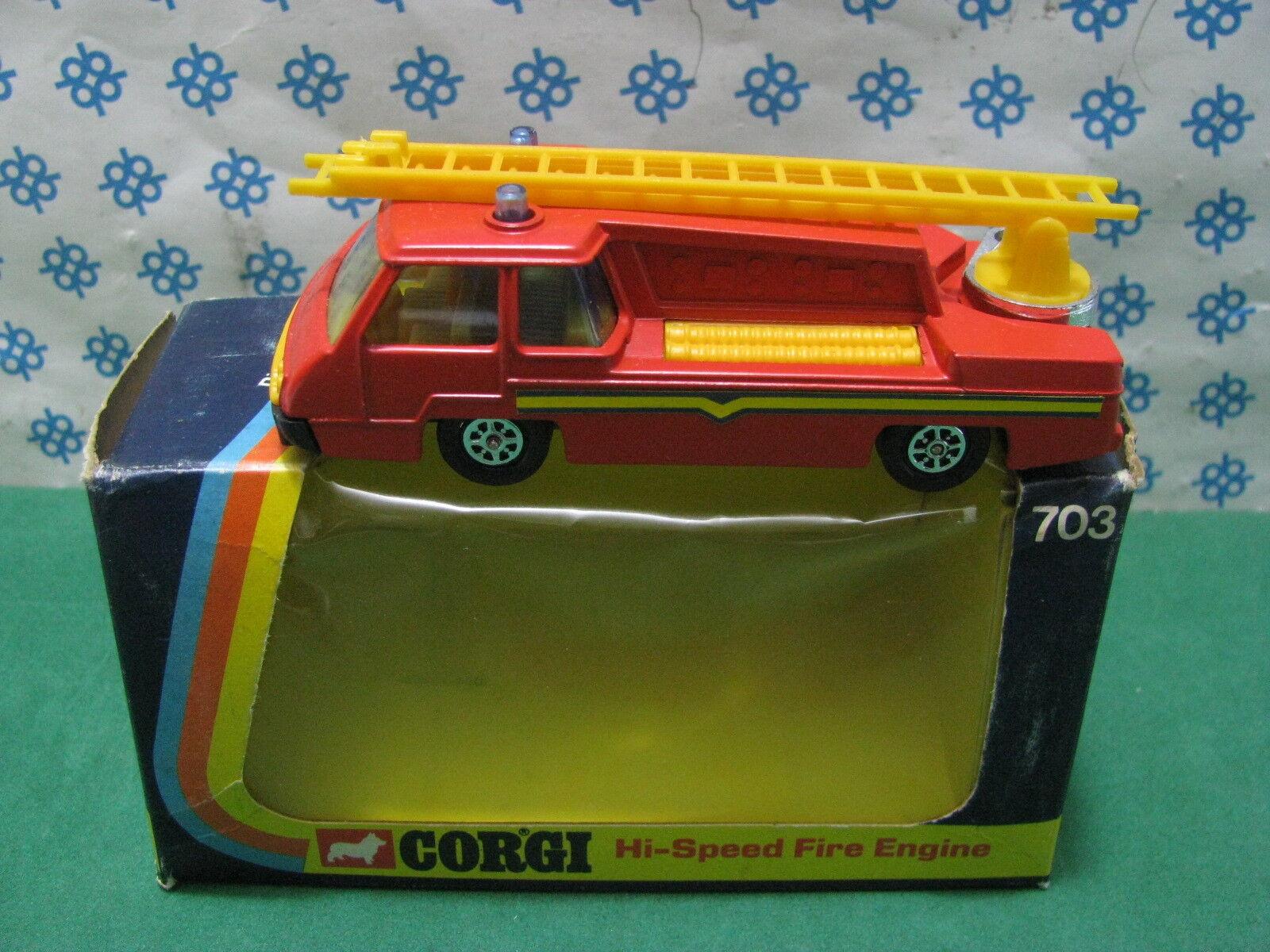 Vintage CORGI juguetes 703 - bomberos - hecho en Gran Bretaña GT
