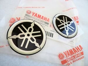 Genuine Yamaha Tank Badge 45mm Silver Black X 2 Uk Stock Ebay