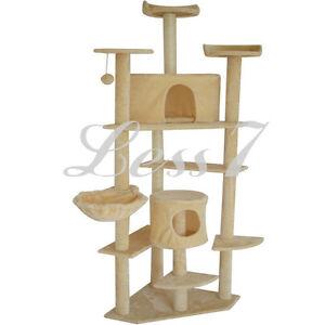 Cat tree condo deluxe small scratcher furniture kitten house hammock salable ebay - Cat hammock scratcher ...