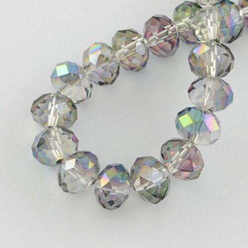 1 Strang Cristal Perla faceta lijado a partir de Suncatcher Pearl Luster elección de color a partir de