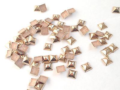 Cabeza De Uñas Forma Pirámide Cubo Hotfix Hierro En Metal Tachuelas Zapatos Jeans Bolsas Cinturones