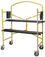 Us7100 54 X 45 Mini Construction Scaffold W Grab Bar & 2 Steel Platforms