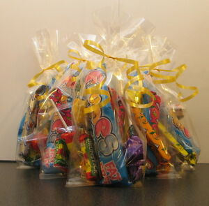 Image is loading 80-x-Clear-Cellophane-Sweet-Bags-Party-Bags-