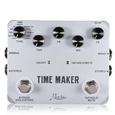 rowin ltd 02 time maker 11 types of ultimate delay pedal for guitar bass ebay. Black Bedroom Furniture Sets. Home Design Ideas