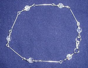 BEAUTIFUL Crystal Art Deco Stile Caviglia Catena  </span>