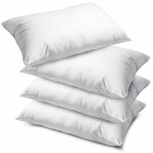 PACK-OF-2-4-8-HOLLOWFIBRE-BOUNCE-BACK-PILLOWS-WITH-FREE-PILLOWCASE-ANY-COLOR