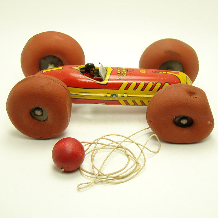 Marx  The New Safety Car  Tin Pull Pull Pull Toy - Near Mint in Box afde9e