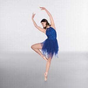 1st Position Royal Blue Velour Applique Ballet Dance Tutu