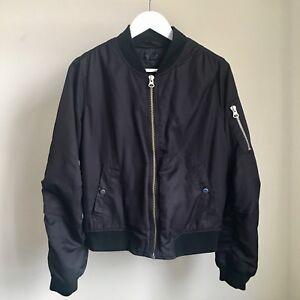 Black MA1 Zip Bomber Jacket | Black