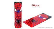 2 x 18650 Battery Sleeve PVC Heat Shrinkable Tube Wrap  18650, SPIDER MAN