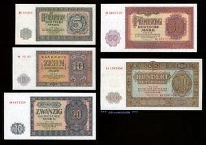 Satz-1955-DDR-5-100-Mark-UNC-KASSENFRISCH