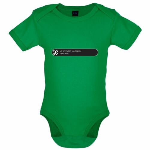 Gamer Babgrow // Bodysuit Achievement Unlocked: Born 8 Colours Funny