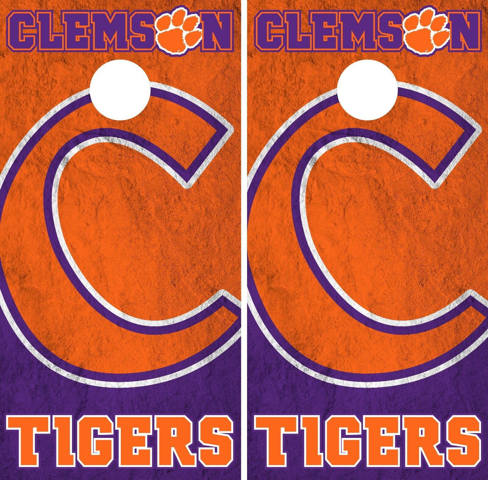 Clemson Tigers Cornhole Wrap NCAA Game Board Skin  Vinyl Decal Decor Set CO759  hottest new styles