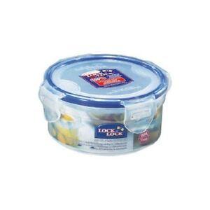 LOCK AND LOCK ROUND PLASTIC FOOD STORAGE CONTAINER 300ML HPL932
