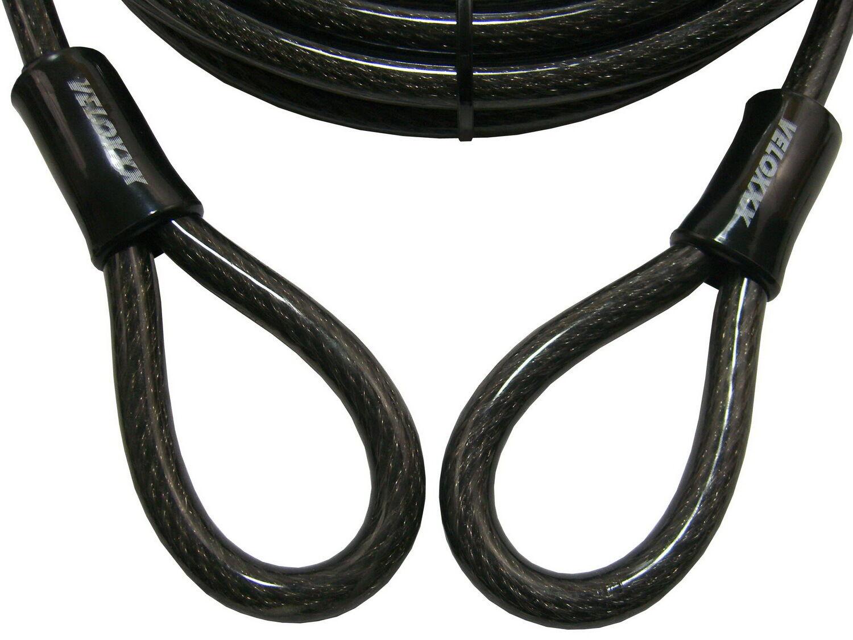 Stahlkabel 4 Meter mit Schlaufen Stahl-Seil,Diebstahlsicherung Motorrad Stiefel etc