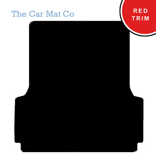 Fully Tailored Black Carpet Boot Mat /& Red Trim Ford Ranger Mk3 With Liner 2012