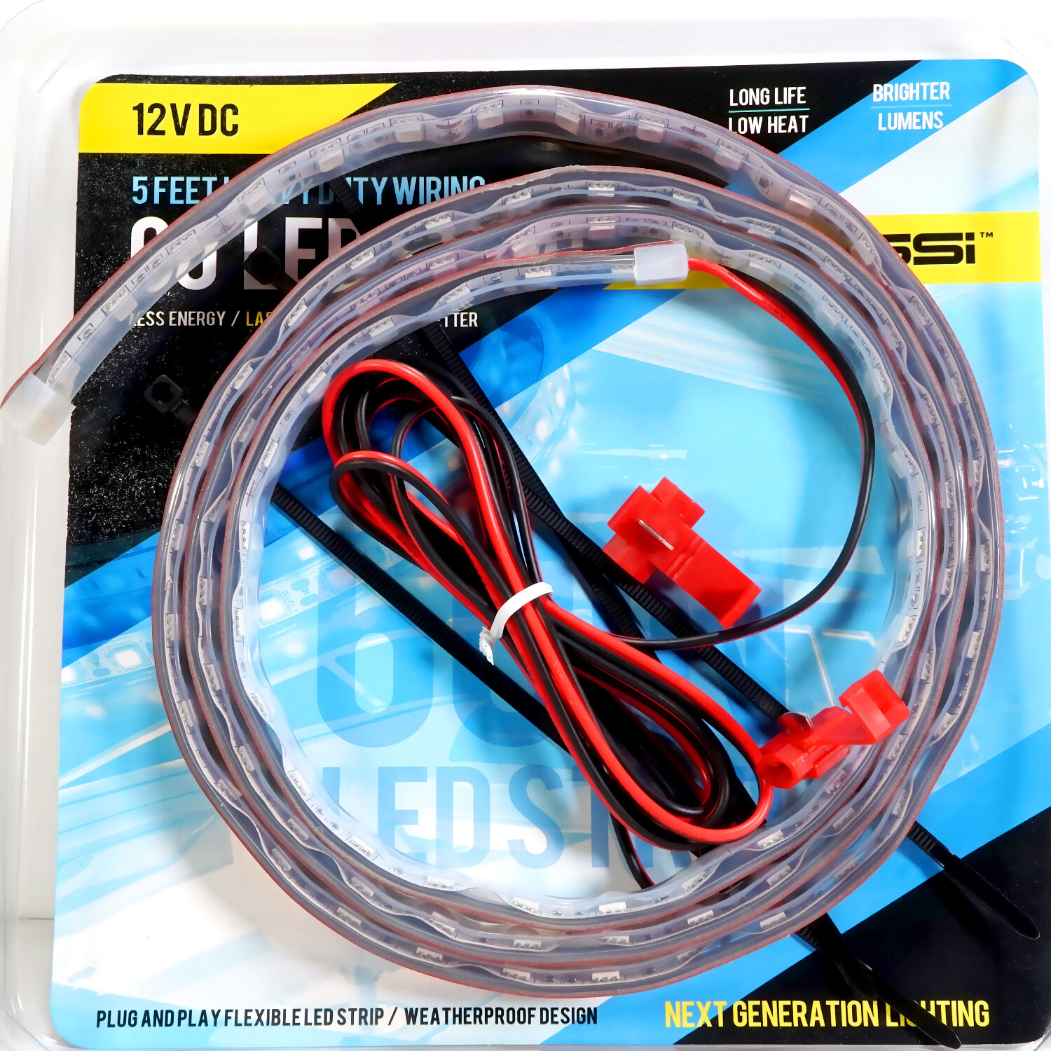 Led Strip Flexible Rope Light 5ft 60 Inches 12v Dc Red Blue Amber Digital Rgb Weatherproof 1m Norton Secured Powered By Verisign