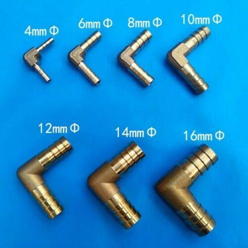 3 X Messing L-PIECE Schlauchtülle 90 Grad Spitze Klebepresse Widerhaken Ellbogen