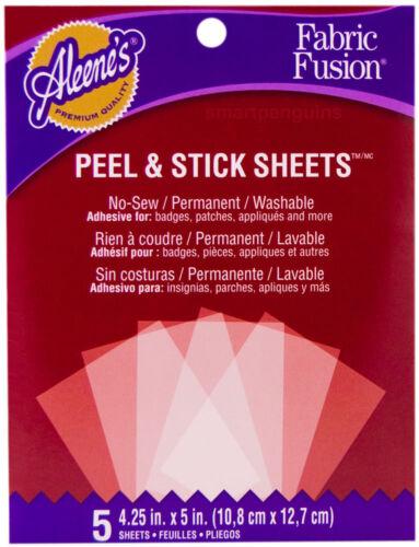 Alleene/'s Fabric Fusion Peel /& Stick Sheets Permanent Glue Adhesive Washable