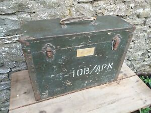Collectable-Vintage-c1959-Military-Aircraft-Instrument-Wooden-Case