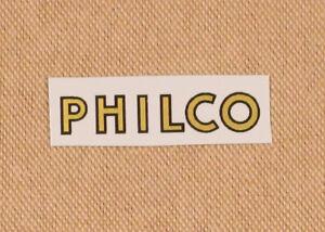 Philco-Radio-Logo-Water-Slide-Decal-Old-Antique-Wood-Vintage-Tube-Radio-Parts