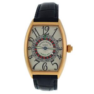 Franck Muller Cintree Curvex Vegas Ref. 5850 18K Rose Gold Automatic Watch