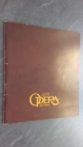 Revista Theatre National Opera París Diciembre 1979 Buen Estado