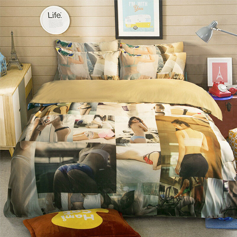 3D Movie Girl Poster3 Bed Pillowcases Quilt Duvet Cover Set Single Queen King CA