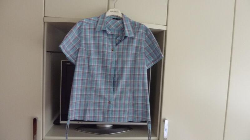 Damen Bluse Crane Blau-gemustert_größe L_44-46_(3)