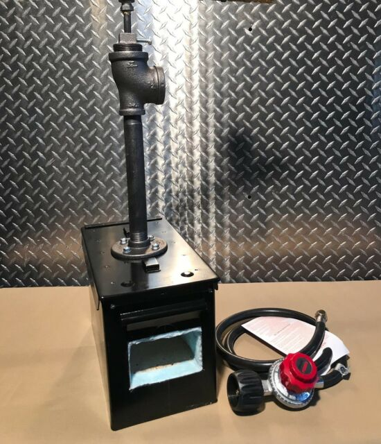 Custom Blacksmith Knife-Making Propane Gas Ammo Can Forge W/ Burner & Regulator