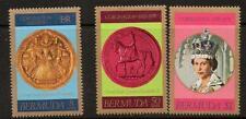 BERMUDA SG384/6 1978 25th ANNIV OF  CORONATION  MNH