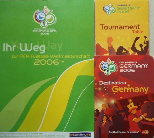 3 x Turnier Info Guide WM 2006 Deutschland Germany