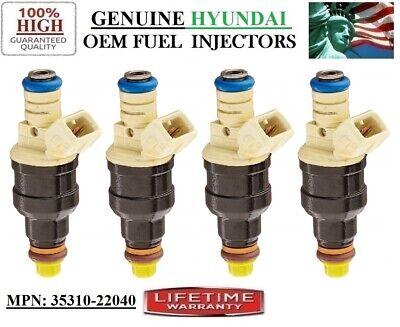 4 Fuel Injectors OEM BOSCH for 1995-1999 Hyundai Accent 1.5L I4 #35310-22040