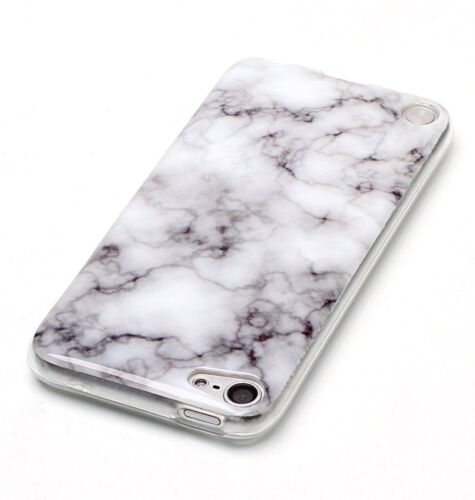 Hard Rubber Gummy Case Cover Marble Stone Pattern For iPod Touch 5th 6th Gen