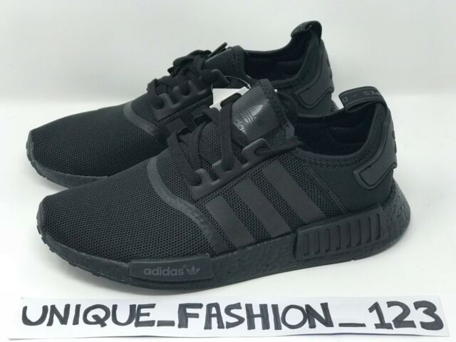 a29dda693ca4 adidas NMD R1 Trainers Black Mono UK 7 EU 40.7 Em37 43 for sale online
